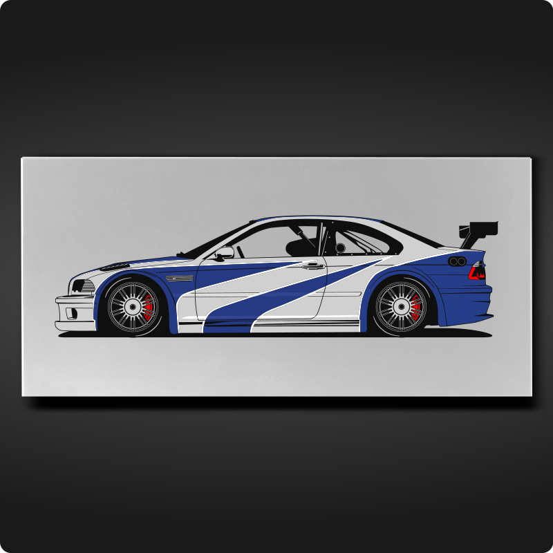 Bmw M3 Gtr Most Wanted Edition Swanvinylworks