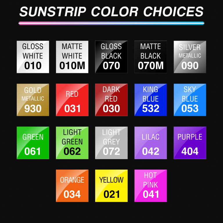 Sunstrip Color Choices